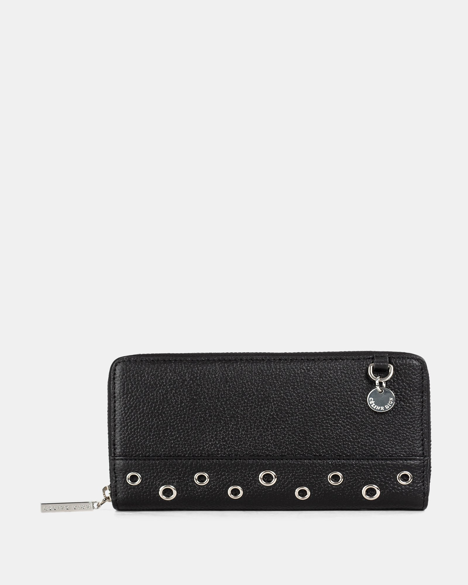 FALSETTO - LEATHER WALLET with Removable chain strap - BLACK - Céline Dion - Zoom
