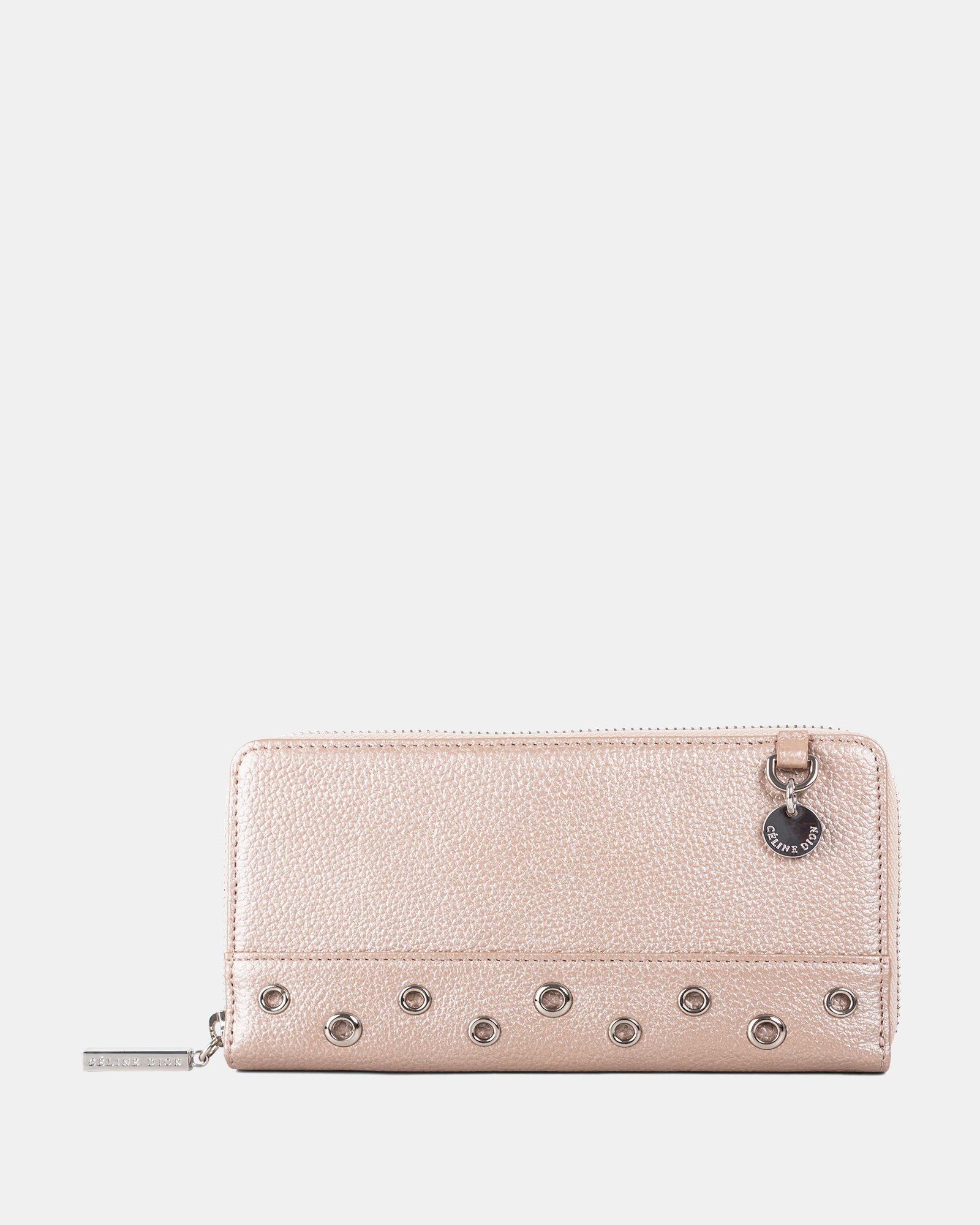 FALSETTO - LEATHER WALLET with Removable chain strap - rosegold - Céline Dion - Zoom