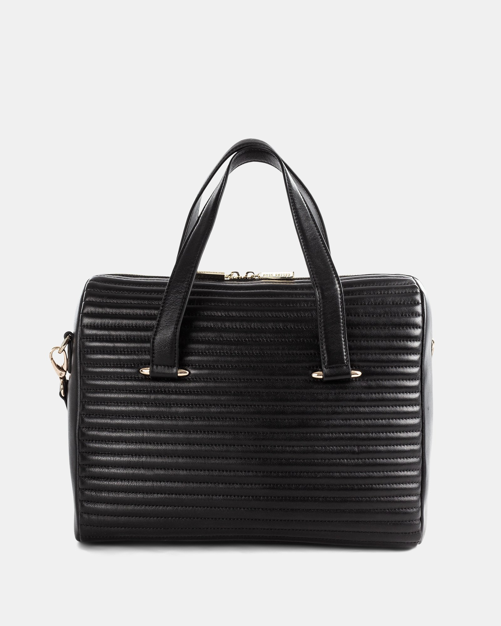 VIBRATO - LEATHER SATCHEL WITH Adjustable and removable shoulder strap - BLACK - Céline Dion - Zoom