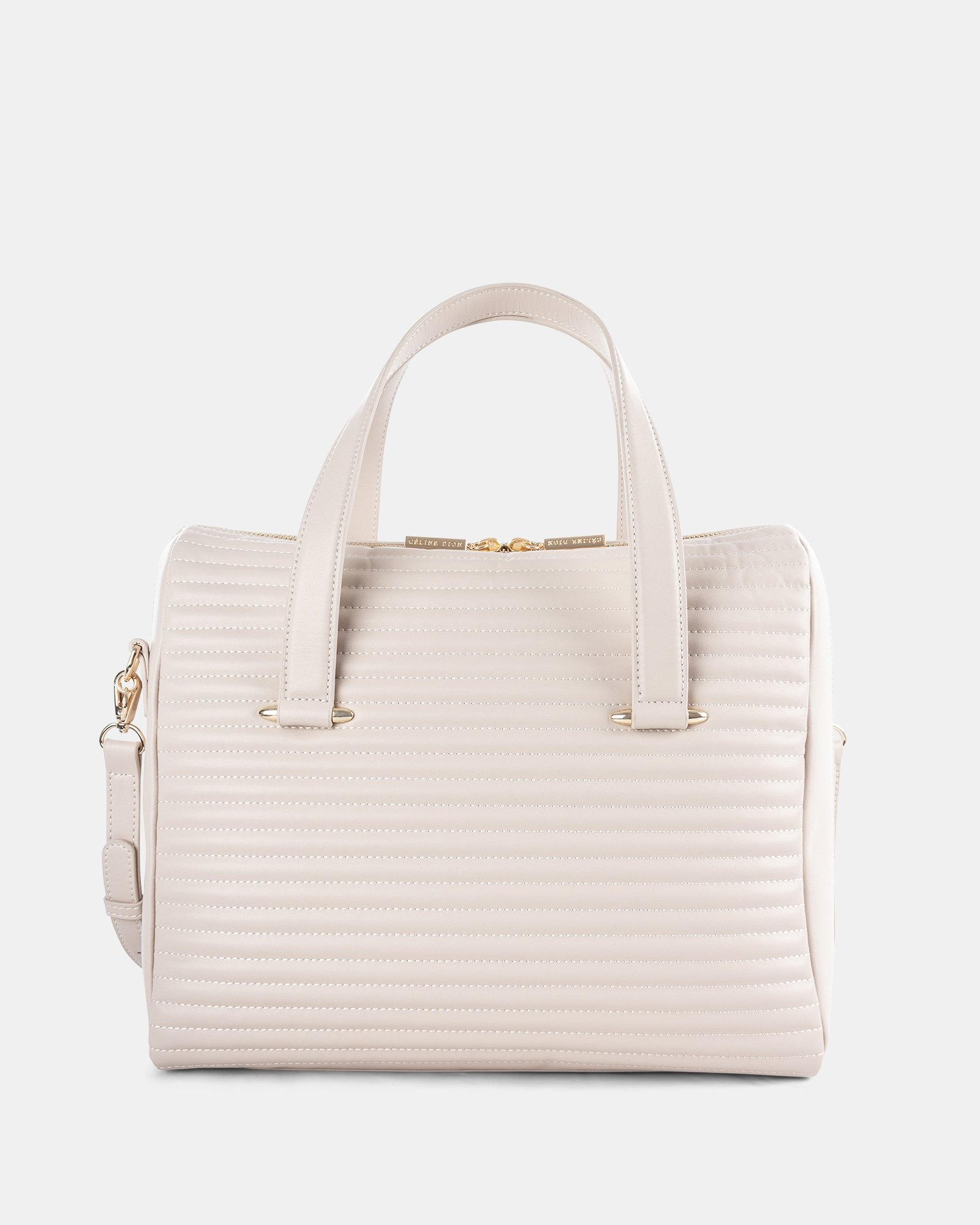VIBRATO - LEATHER SATCHEL WITH Adjustable and removable shoulder strap - VANILLA - Céline Dion - Zoom