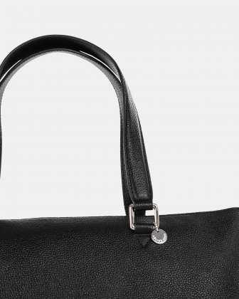 FALSETTO - LEATHER TOTE BAG WITH RFID PROTECTION - BLACK - Céline Dion