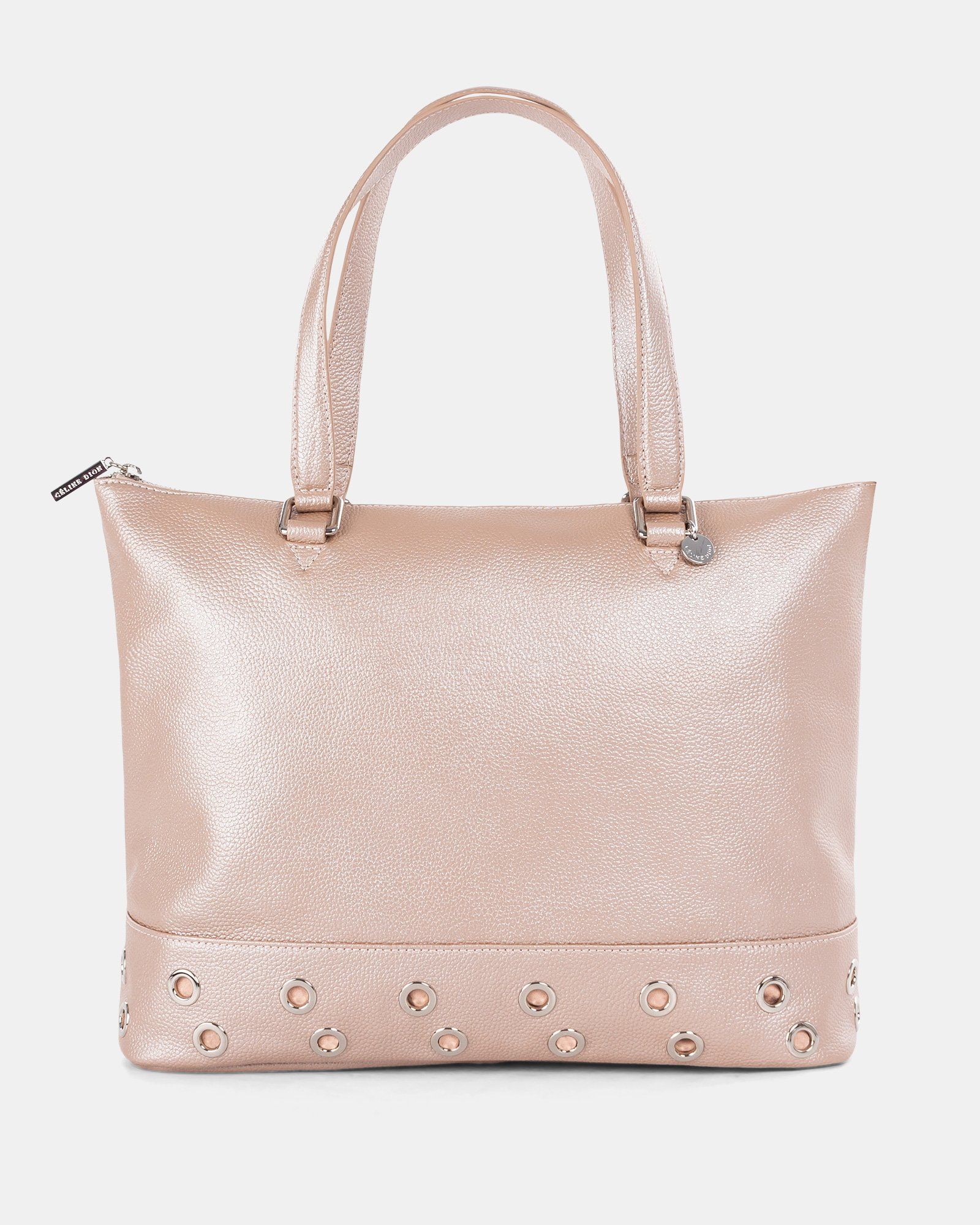 FALSETTO - LEATHER TOTE BAG WITH RFID PROTECTION - rosegold - Céline Dion - Zoom