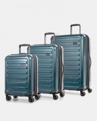 SANTIAGO - HARDSIDE 3-PCS SET IN RESISTANT ABS - TEAL Bugatti
