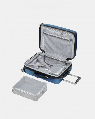 Ricardo - Scoop collection - Carry-on with Integrated tech-charging - Blue Ricardo