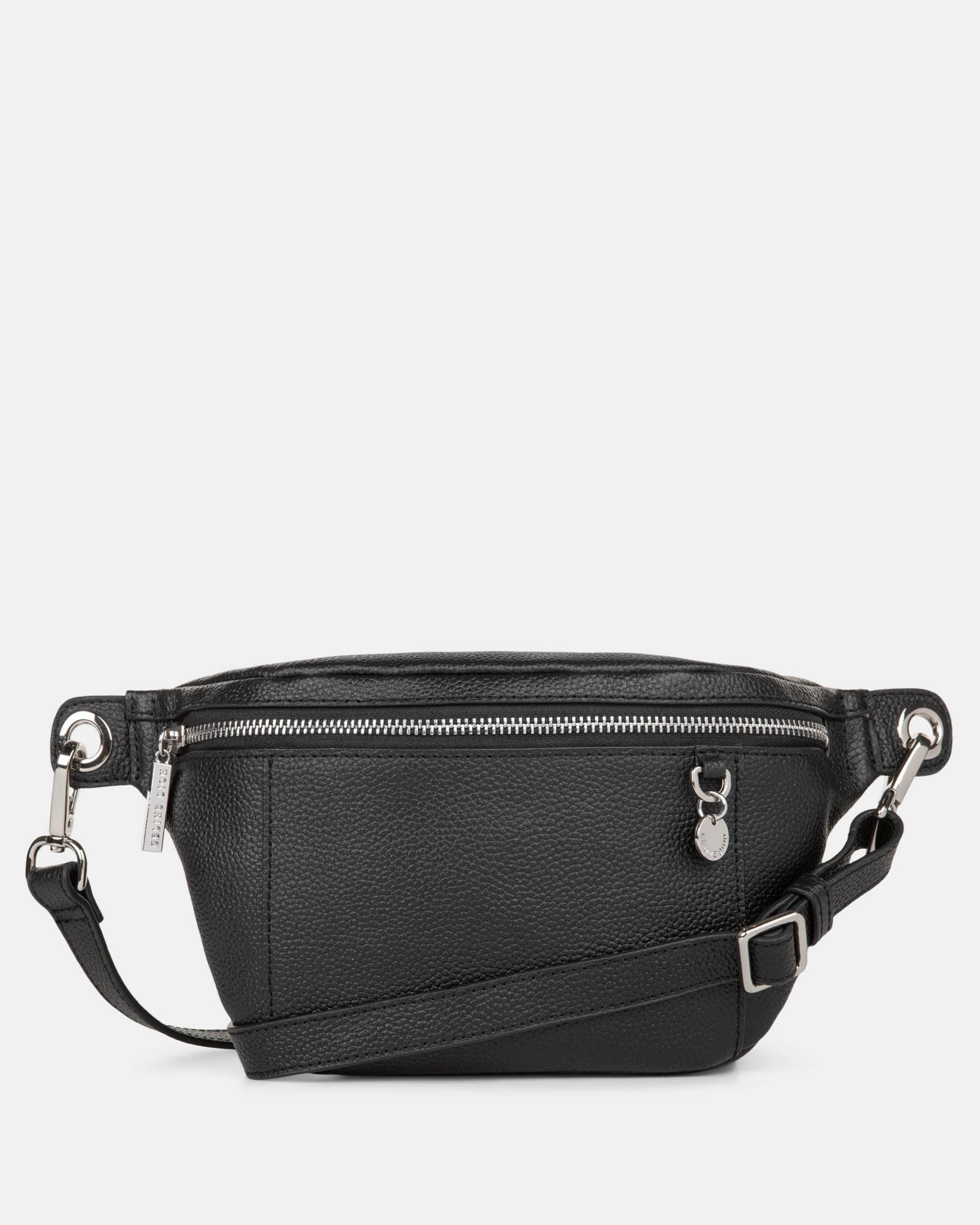 FALSETTO - LEATHER MONEY BELT with RFID protection - BLACK - Céline Dion - Zoom