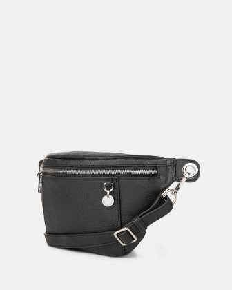 FALSETTO - LEATHER MONEY BELT with RFID protection - BLACK - Céline Dion