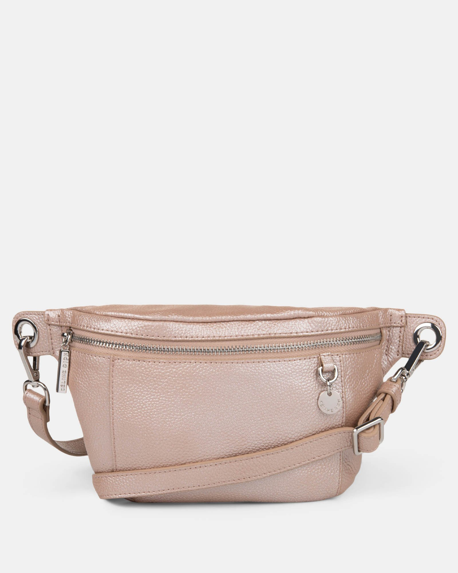 FALSETTO - LEATHER MONEY BELT with RFID protection - Rosegold - Céline Dion - Zoom