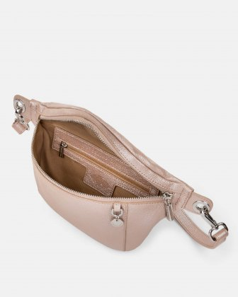 FALSETTO - LEATHER MONEY BELT with RFID protection - Rosegold - Céline Dion