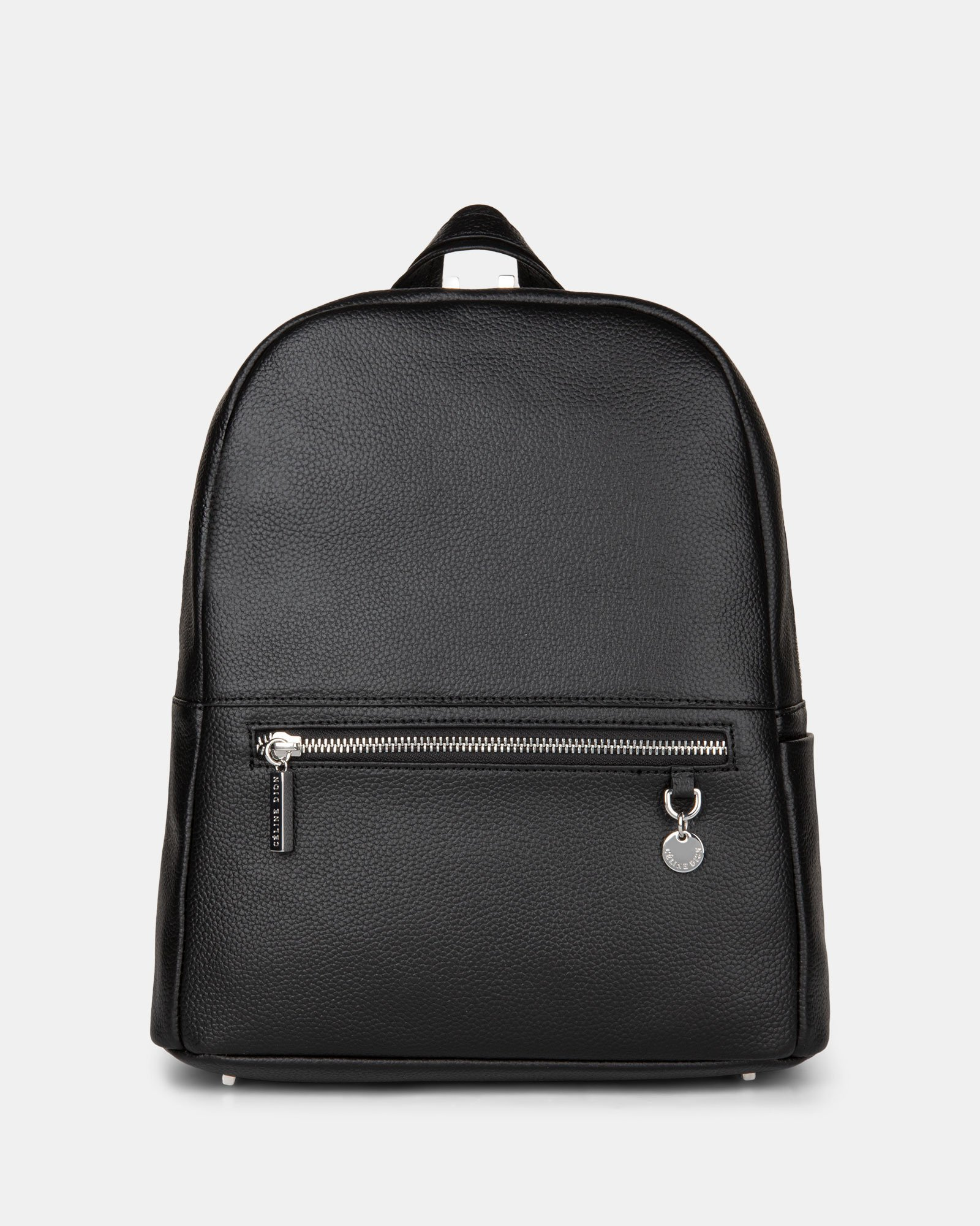 FALSETTO - LEATHER BACKPACK with RFID protection - BLACK - Céline Dion - Zoom