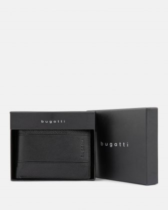 BUGATTI - LEATHER WALLET WITH RFID PROTECTION - BLACK Bugatti