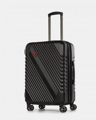 Cirrus - Lightweight Hardside Luggage 24'' with 8 Spinner wheels - Black Swiss Mobility