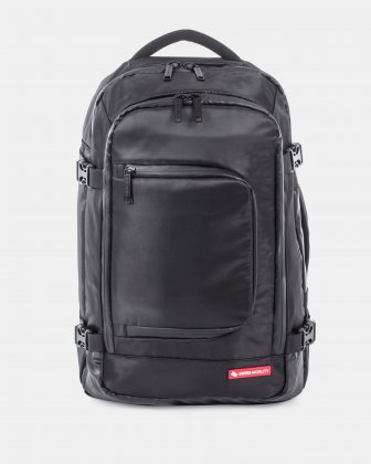 "cadence - Convertible Backpack fits most 15.6"" laptop - Black Swiss Mobility"