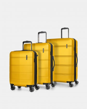 LAX – 3 PIECES SET LIGHTWEIGHT HARDSIDE LUGGAGE - YELLOW Swiss Mobility