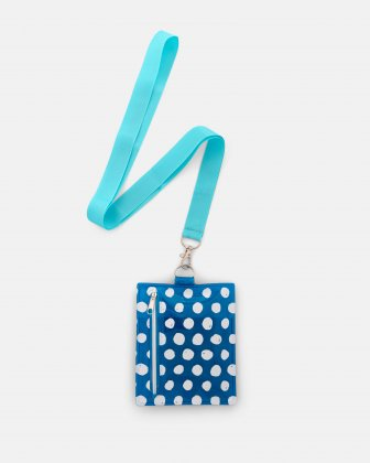 BONDSTREET - PROTECTIVE CLEAR POUCH ON A STRING WITH 3 WASHABLE MASKS (3 PLY) JUNIOR SIZE - BLUE Bondstreet