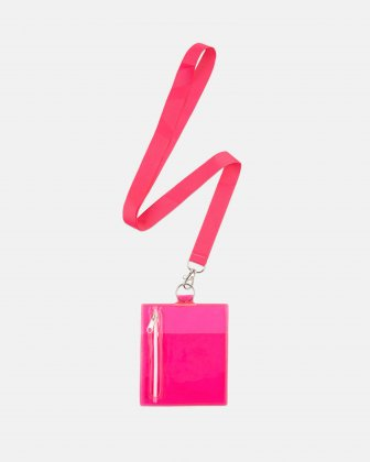 """BONDSTREET - PROTECTIVE CLEAR POUCH ON A STRING - 4.5"""" X 5.5"""" - PINK Bondstreet"""
