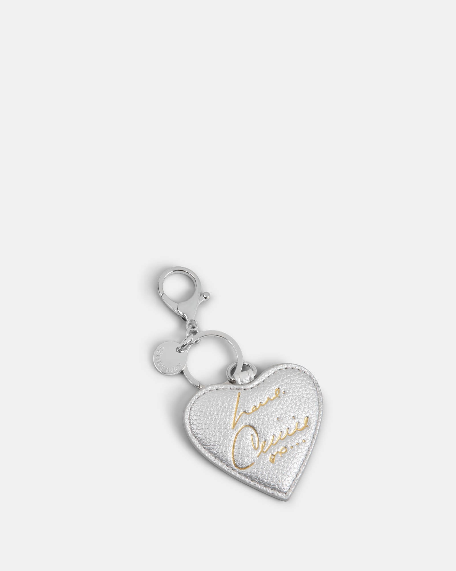 CELINE DION - HEART SHAPED KEY CHAIN - SILVER - Céline Dion - Zoom