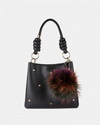 Lov - Hobo with two compartments with magnetic closure - Black Joanel