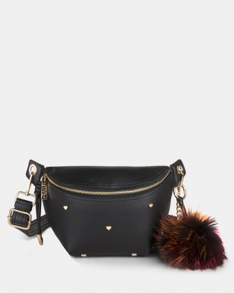 Lov - Money belt with Main zippered compartment - Black Joanel