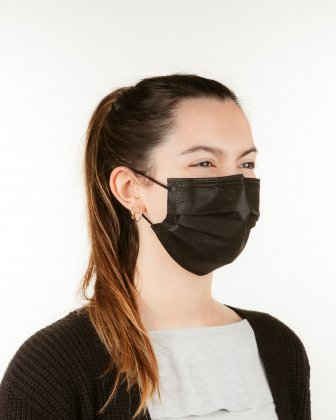 Swiss Mobility - Medical Masks Type 1 - Disposable - Box of 50 - Black - Swiss Mobility