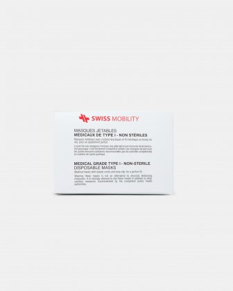 Swiss Mobility - Medical Masks Type 1 - Disposable - Box of 50 - Blue - Swiss Mobility