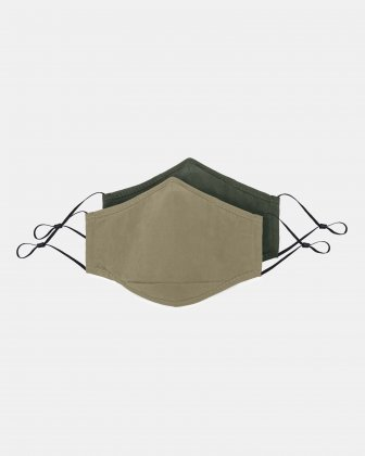 SWISS MOBILITY - 2 WASHABLE MASKS (3 PLY) + 2 (PM2.5) FILTERS ADULT SIZE - BEIGE/KHAKI - Swiss Mobility