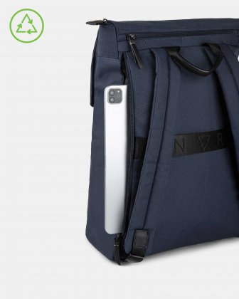 Bugatti – Reborn Collection – Lightweight Backpack – Made of 100% Recycled Material - NAVY - Bugatti