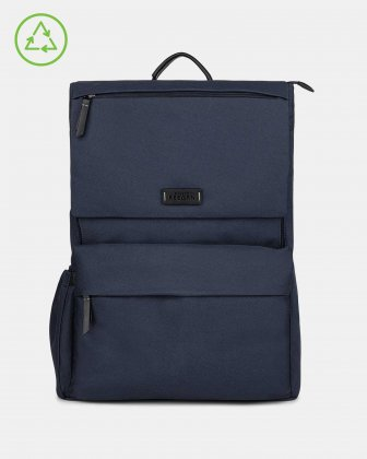 Bugatti – Reborn Collection – Lightweight Backpack – Made of 100% Recycled Material - NAVY Bugatti