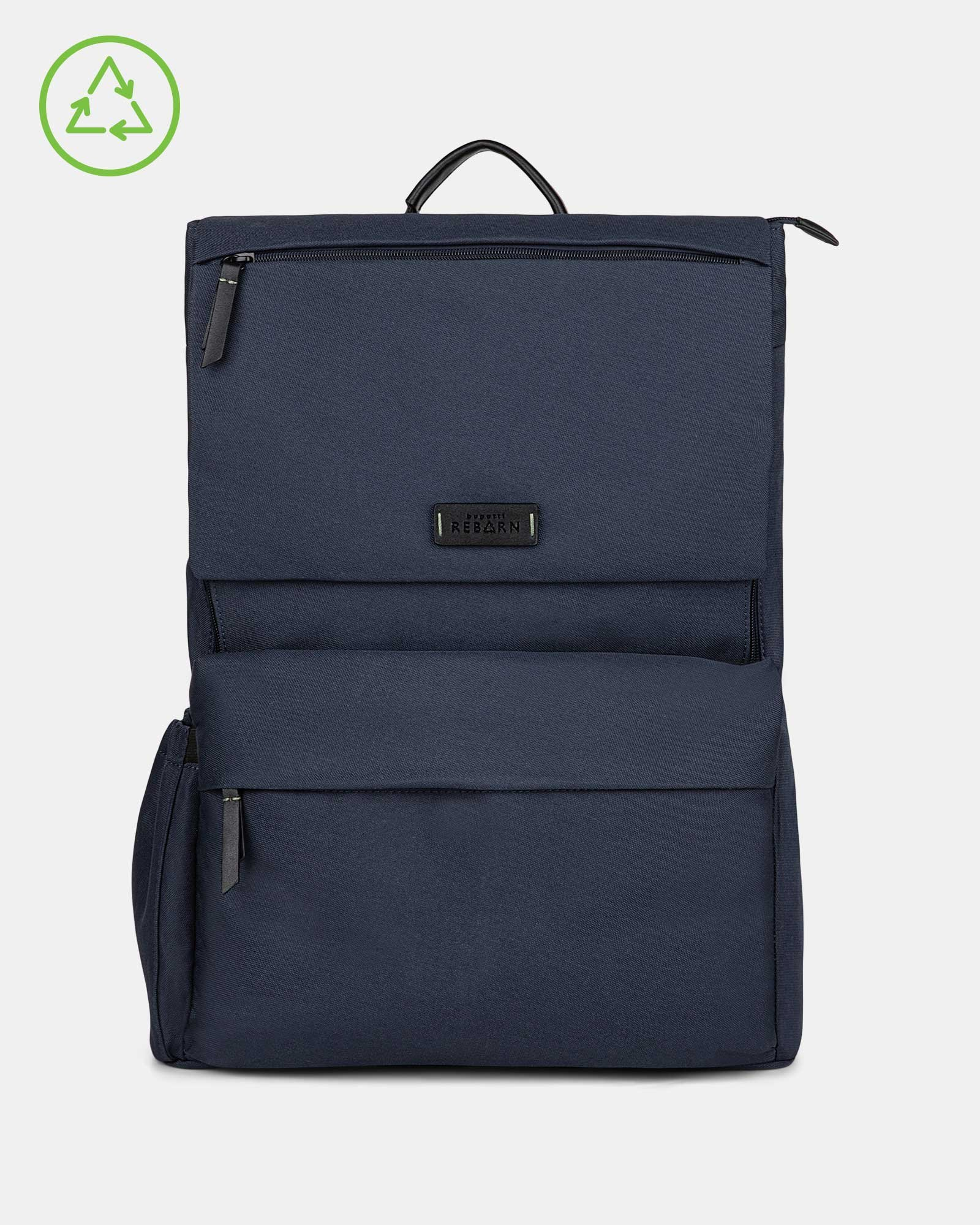Bugatti – Reborn Collection – Lightweight Backpack – Made of 100% Recycled Material - NAVY - Bugatti - Zoom