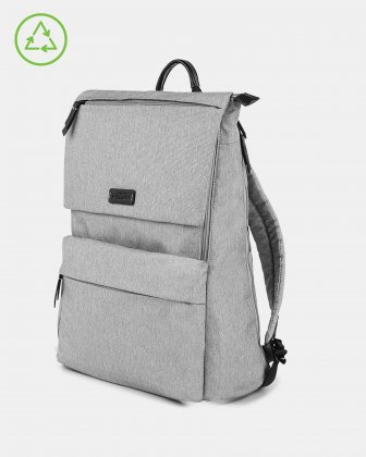 Bugatti – Reborn Collection – Lightweight Backpack – Made of 100% Recycled Material - GREY - Bugatti