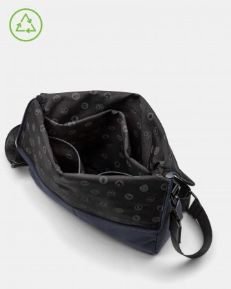 Bugatti – Reborn Collection – Convertible Crossbody/Waist Bag – Made of 100% Recycled Material - Navy - Bugatti