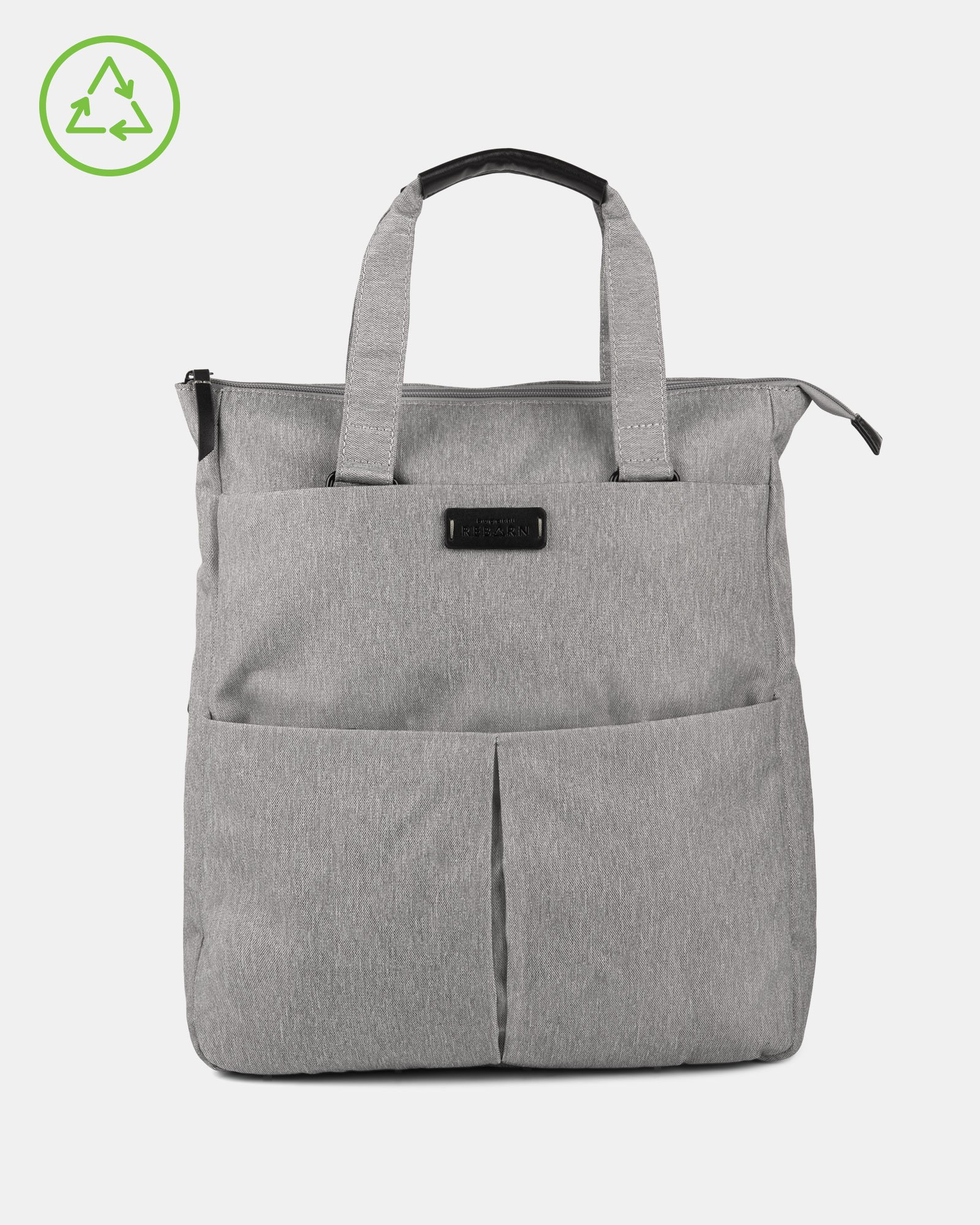 Bugatti – Reborn Collection – 3-in-1 Tote Bag – Made of 100% Recycled Material - Grey - Bugatti - Zoom