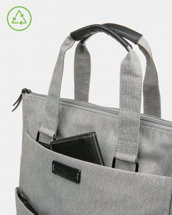 Bugatti – Reborn Collection – 3-in-1 Tote Bag – Made of 100% Recycled Material - Grey - Bugatti