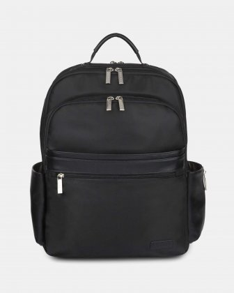 "Moretti - Backpack with Padded laptop compartment for 15.6"" + RFID protection - Black  Bugatti"