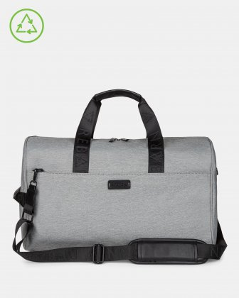 Bugatti – Reborn Collection – 2-in-1 Hybrid Duffle Bag – Made of 100% Recycled Material - grey Bugatti