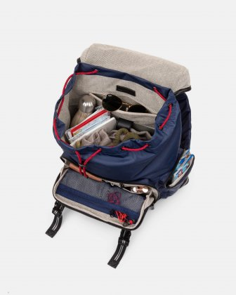 MOUFLON - ANDROMEDA BACKPACK WITH TWO SIDE POCKETS WITH ZIPPERED CLOSURE - NAVY Mouflon