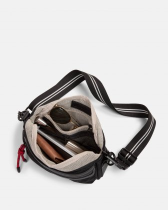 MOUFLON - ANDROMEDA CROSSBODY WITH TOP ZIPPERED MAIN COMPARTMENT - BLACK Mouflon