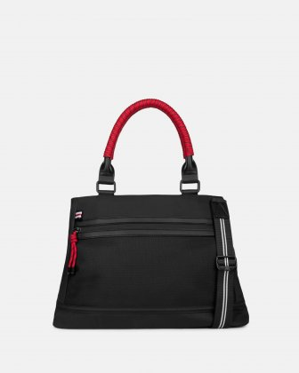 MOUFLON - ANDROMEDA SATCHEL WITH MAIN ZIPPERED OPENING - BLACK Mouflon