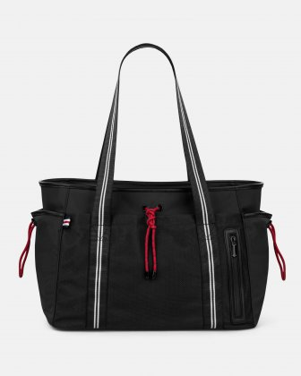 MOUFLON - ANDROMEDA TOTE BAG  WITH FRONT SLIP POCKET WITH MAGNETIC CLOSURE - BLACK Mouflon