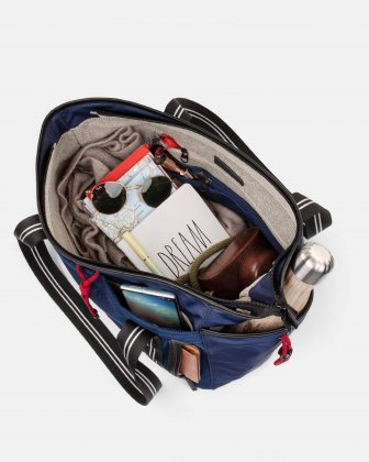 MOUFLON - ANDROMEDA TOTE BAG WITH FRONT SLIP POCKET WITH MAGNETIC CLOSURE - NAVY Mouflon