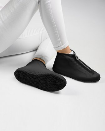 SILLIES - COUVRE-CHAUSSURES SILICONE TAILLE PETIT - NOIR - Bondstreet