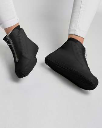 SILIKOOLS - COUVRE-CHAUSSURES SILICONE TAILLE MOYENNE - NOIR - Bondstreet