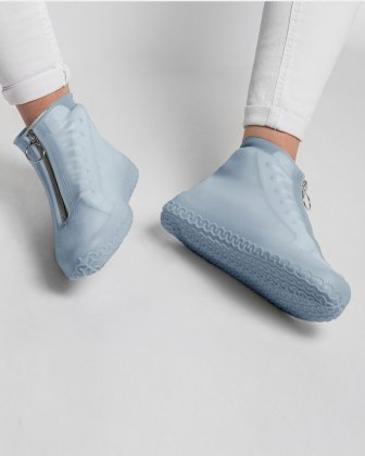 SILIKOOLS - COUVRE-CHAUSSURES SILICONE TAILLE LARGE - BLEU - Bondstreet