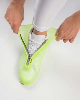 SILIKOOLS - COUVRE-CHAUSSURES SILICONE TAILLE LARGE - JAUNE FLUO Bondstreet