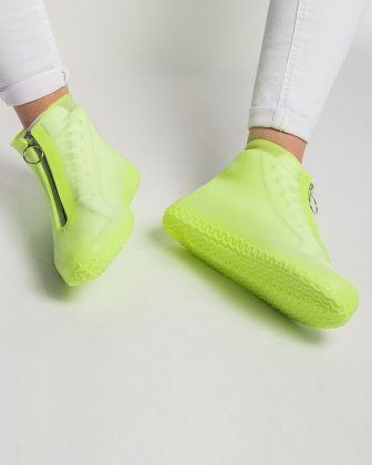 SILIKOOLS - COUVRE-CHAUSSURES SILICONE TAILLE LARGE - JAUNE FLUO - Bondstreet