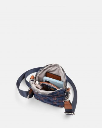 Montmartre - Mobile Case Crossbody with Top main zippered opening - navy Bugatti
