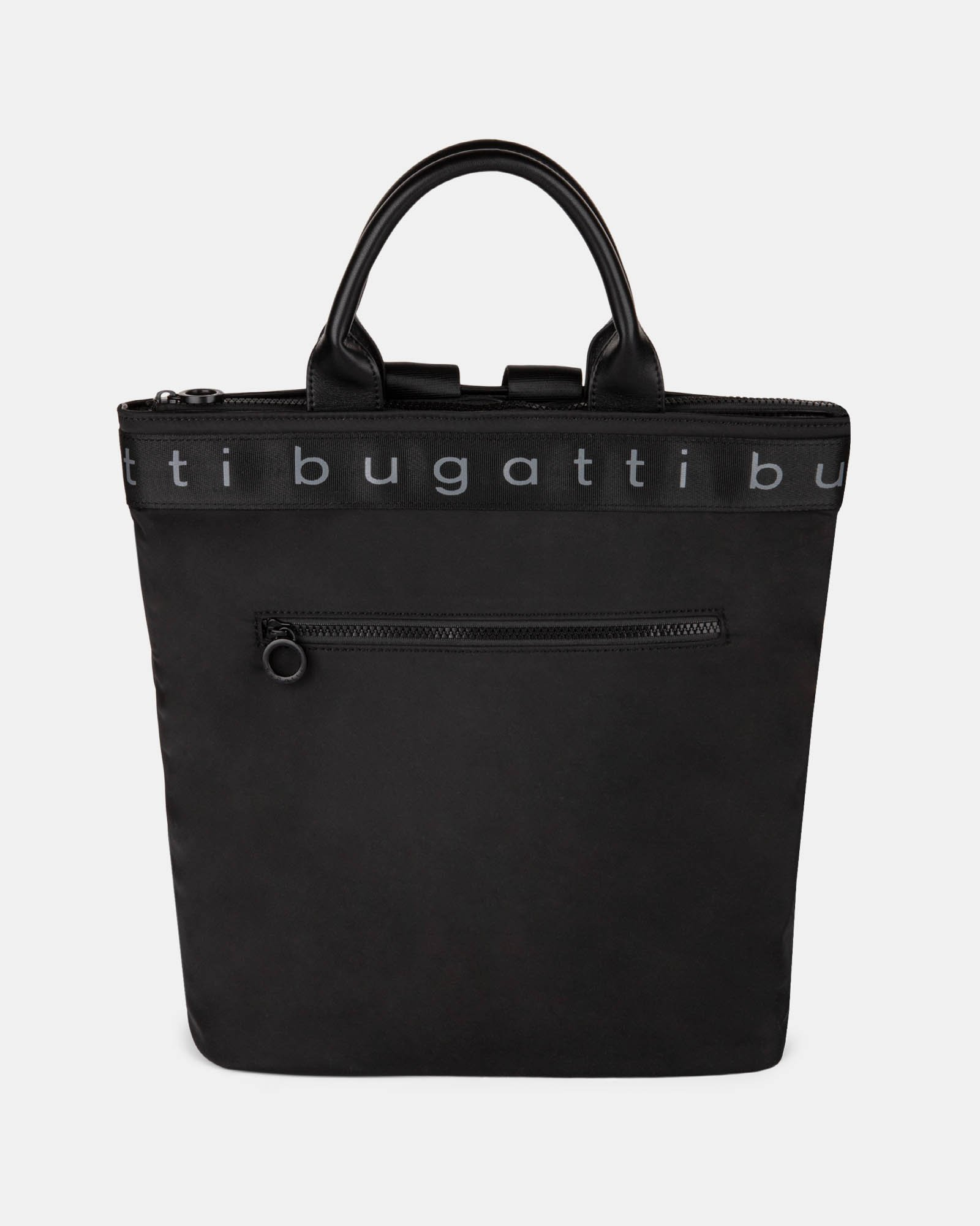 Tofino - Convertible Backpack/tote with Top zippered opening - Black  - Bugatti - Zoom