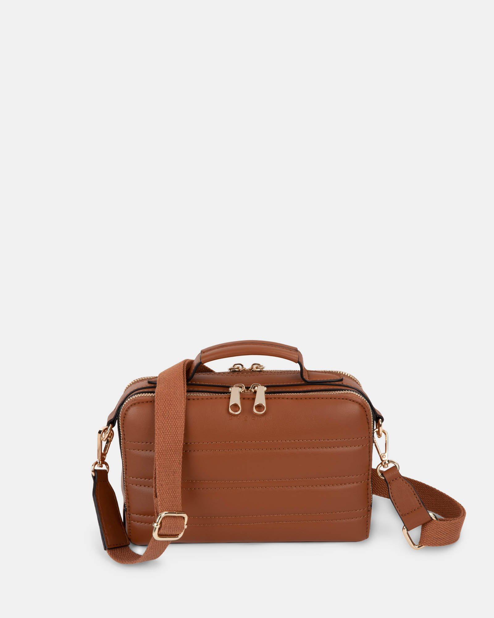 Soho - Crossbody with Two main openings with zippered closures - tan - Bugatti - Zoom