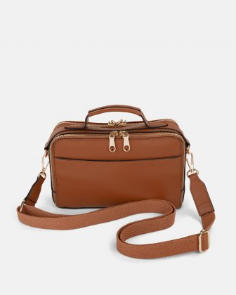 Soho - Crossbody with Two main openings with zippered closures - tan - Bugatti