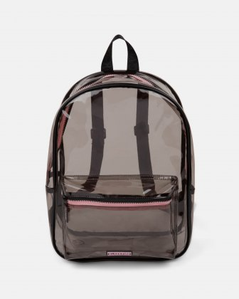 Blackpink - Clearly You Collection - black-tinted see-through backpack with pink zippers - BLACK BLACKPINK