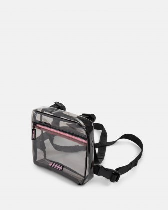 Blackpink - Clearly You Collection - black-tinted see-through frontal crossbody with a pink zipper - black - BLACKPINK